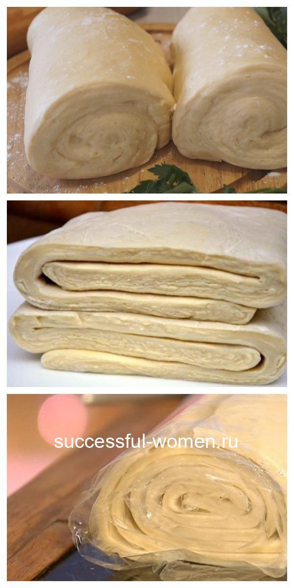 Слоеное дрожжевое тесто быстрого приготовления. Нежное и воздушное