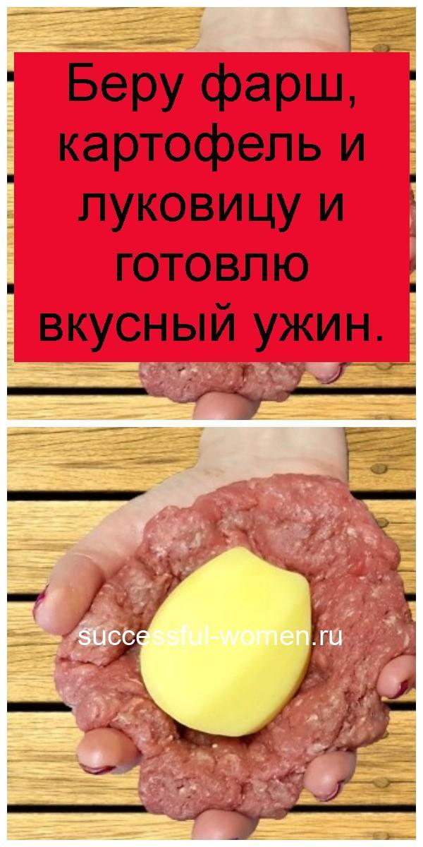 Беру фарш, картофель и луковицу и готовлю вкусный ужин 4